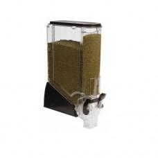 Erogatore trasparente per prodotti sfusi, senza dosatore, dimensioni 150x280xh610 mm, capacità 19 litri