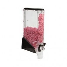 Erogatore trasparente per prodotti sfusi, senza dosatore, dimensioni 100x280xh610 mm, capacità 12 litri