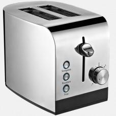 Tostapane elettrico con pinze e vassoi raccogli-briciole, 2 vani cottura; 7 livelli di doratura; funzione riscaldamento e scongelamento; tasti con luce led; tasto stop; comandi elettronici, dimensioni 300x172x235h mm
