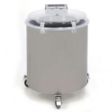 Centrifuga per insalata corpo e cesto centrifuga in acciaio inox, capacità per ciclo: 6 Kg, produzione: 120-360 Kg./ora, dimensioni 540x750x665h mm