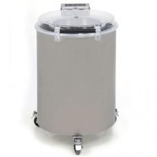 Centrifuga per insalata corpo e cesto centrifuga in acciaio inox, capacità per ciclo: 12 Kg, produzione: 240-720 Kg./ora, dimensioni 540x750x815h mm