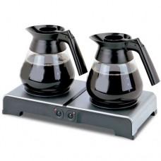 Piastra riscaldante intelligente doppia, mantiene il caffè in condizioni ottimali con il minimo consumo, interruttori indipendenti per ogni piastra, potenza 130 W, dimensioni 403x195x61h mm