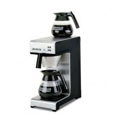 Macchina da caffè a filtro, produzione a brocca 15 litri/ora, collegamento ad acqua, boiler e porta filtro in acciaio inox, dimensioni 195x406x446h mm