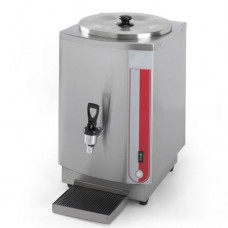 Riscaldatore per latte capacità: 10 lt, termoriscaldatore a bagnomaria, struttura in acciaio inossidabile, rubinetto ermetico antisgocciolamento, termostato regolabile, dimensioni 310x415x510h mm