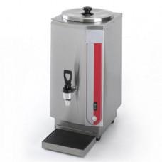 Riscaldatore per latte capacità: 5 lt, termoriscaldatore a bagnomaria, struttura in acciaio inossidabile, rubinetto ermetico antisgocciolamento, termostato regolabile, dimensioni 240x360x510h mm