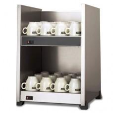 Riscalda tazze o brocche fabbricato in acciaio inossidabile, doppia mensola con 2 interruttori indipendenti, capacità circa 96 tazze, dimensioni 356x332x490h mm