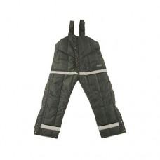 Pantalone con coprireni e bretelle elastiche in tessuto esterno antistrappo, idrorepellente, antistatico, robuste cerniere e copri cerniere, imbottitura in microfibra traspirante