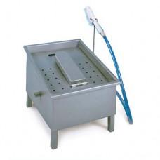 Lavastivali professionale manuale in acciaio inox AISI 304, dimensioni 40x50xh40 cm, compreso di spazzola per il lavaggio