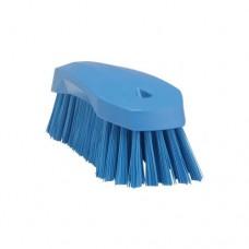 Spazzola con impugnatura ergonomica adatta a pulire grandi contenitori tavoli e macchinari, resiste fino a 121°, durezza setole dure, dimensioni 200x70x60 mm