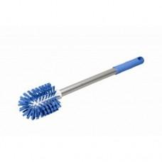 Spazzola per la pulizia dei tritacarne professionali già completa di manico, è utilizzabile anche per tubi o condotti, diametro spazzola 9 cm