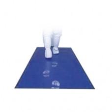 Tappeto biodecontaminante di colore blu, trattato con adesivo acrilico additivato con sostanza che inibisce la proliferazione dei microrganismi, dimensioni 450x1200, conf. da 5 pezzi