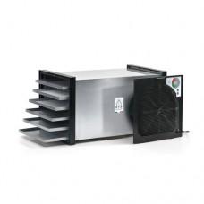 Essiccatore in ABS  e acciaio inox, con 6 cassetti per l'essiccamento, ideale per essiccare frutta e prodotti alimentari, dimensioni 27x27x46 cm, modello SC-73500/L