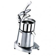 Spremiagrumi professionale a leva, struttura in alluminio verniciato, vasca e filtro estraibili, pigna in abs alimentare,azionamento e spegnimento automatico tramite l'utilizzo della leva